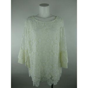 Chater Club Plus NEW 1X Polyester Bell Blouse Top